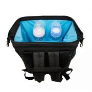 Mochila Bolsa Maternidade Funcional Bebe Infantil Diaper Bag - Preta/Azul