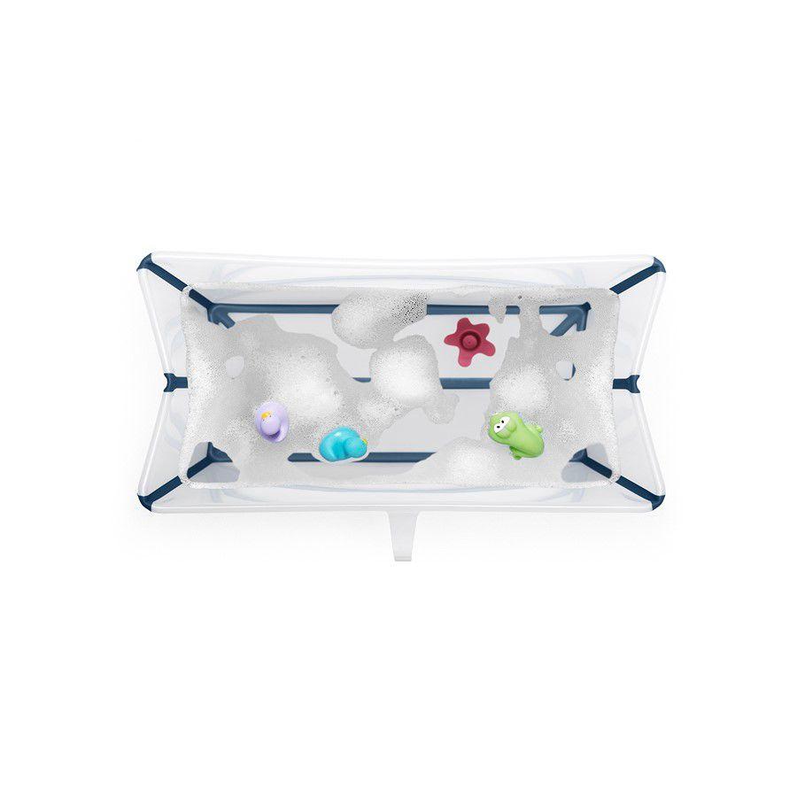 Banheira Flexível Azul com Plug Térmico Stokke - Girotondo