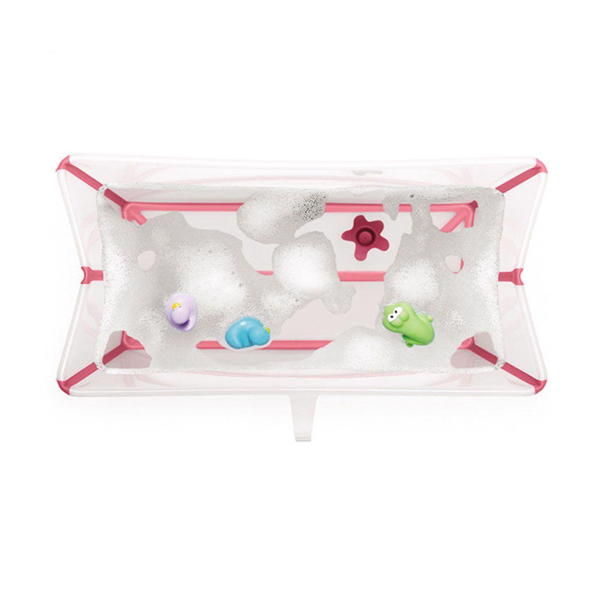 Banheira Flexível Rosa com Plug Térmico Stokke - Girotondo