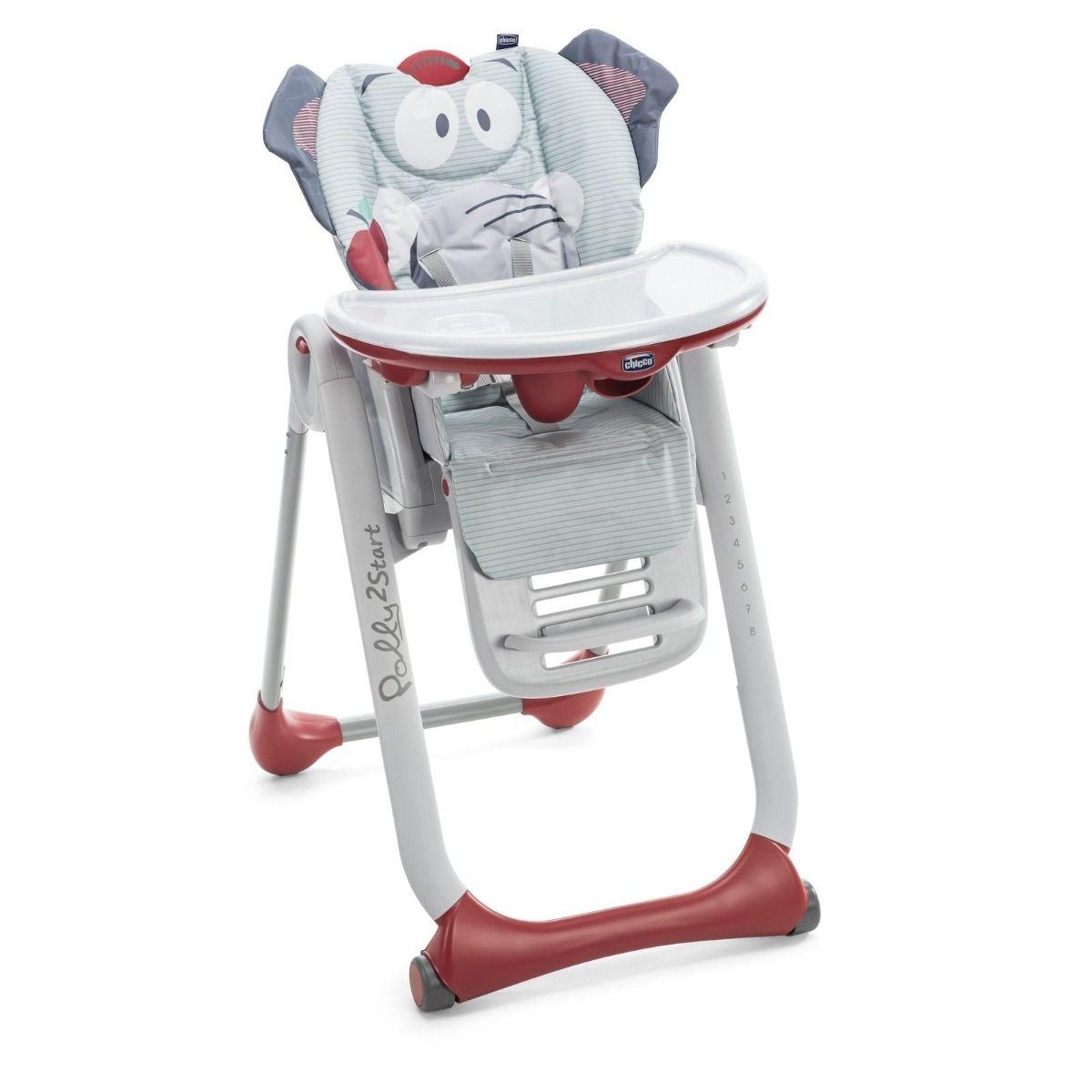 Cadeira Alimentação Bebê Polly 2 Start Elefante - Chicco
