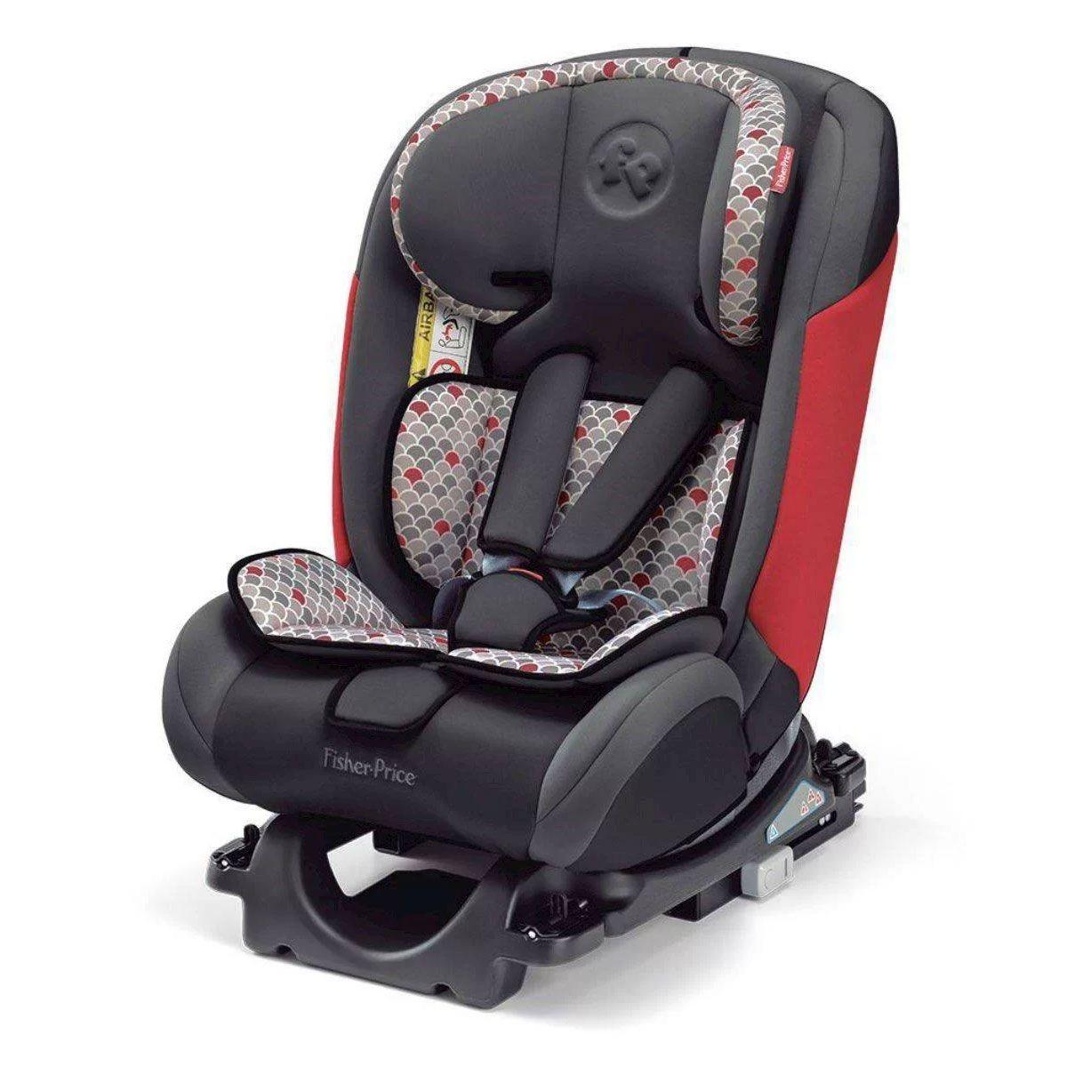 Cadeira Auto Reclinável All Stages Isofix Fisher Price 0 A 36kg Vermelha