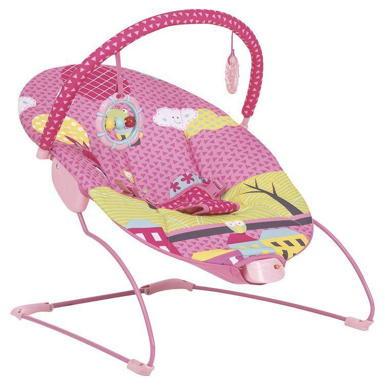 Cadeira de Descanso Bebe Vibra Joy Kiddo Rosa