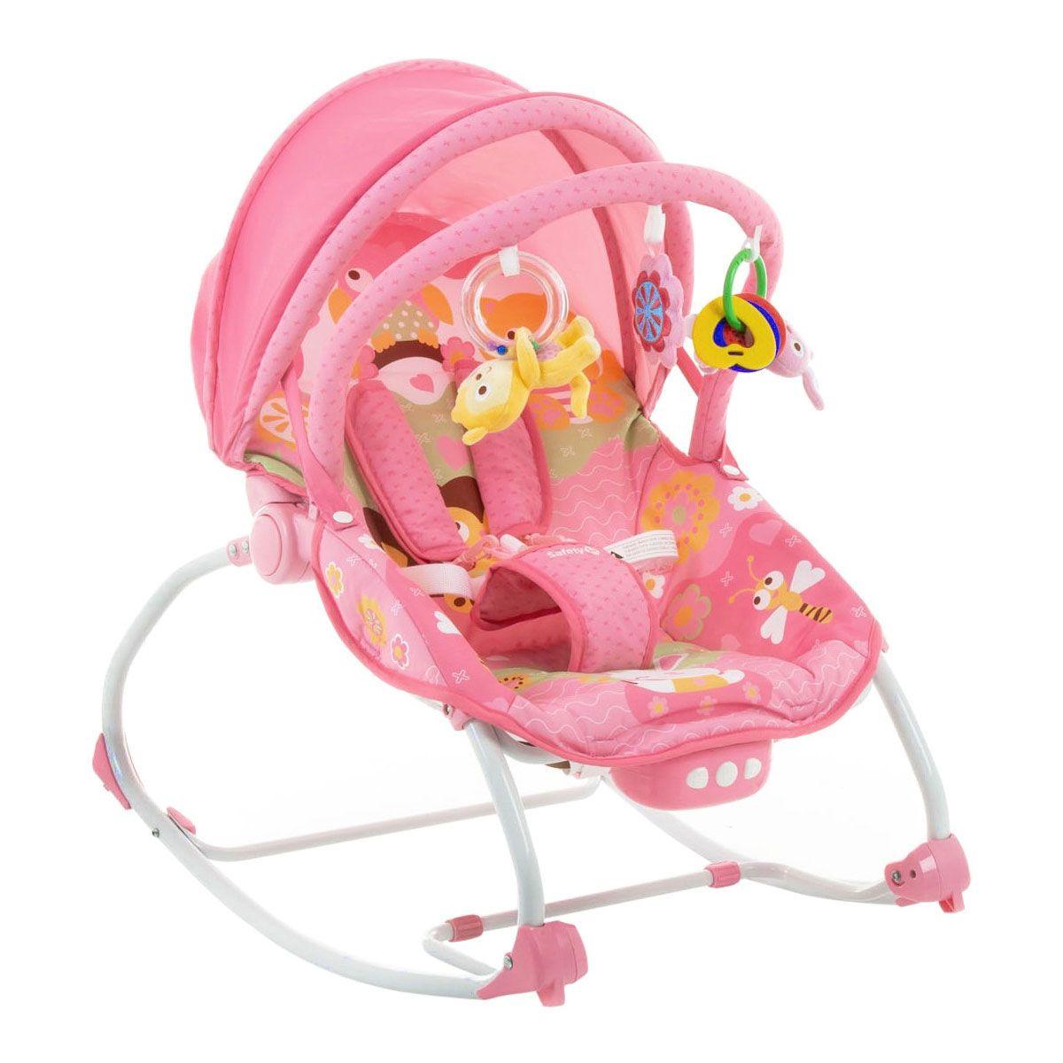 Cadeira Descanso Bebê Musical e Vibratória Sunshine Rosa - Safety 1st