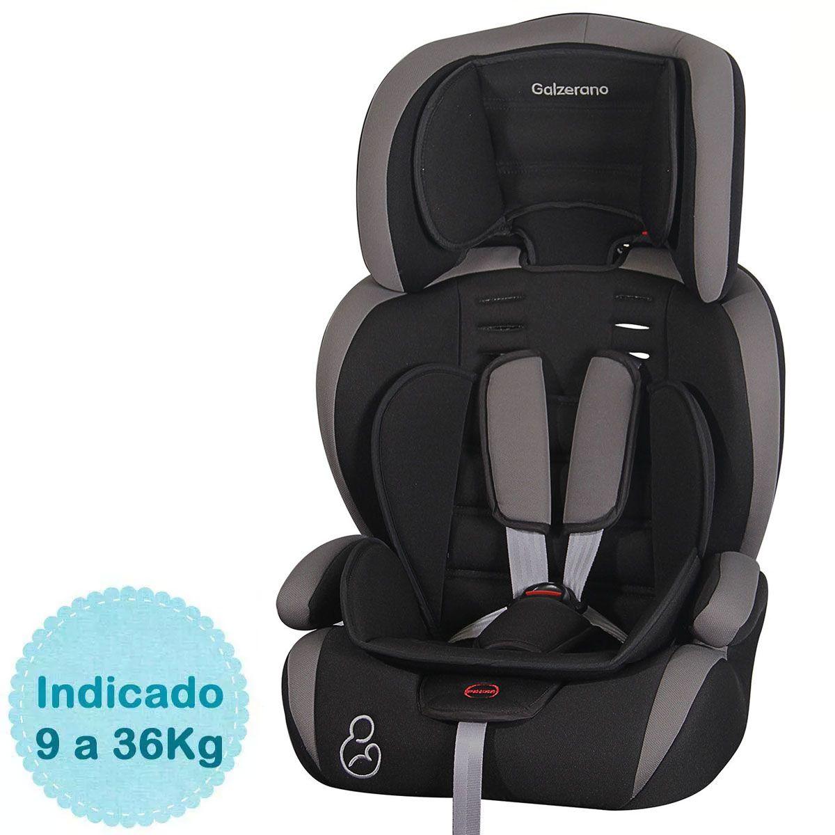 Cadeira  Auto Bebê Jig  9 à 36 Kg Preto Galzerano