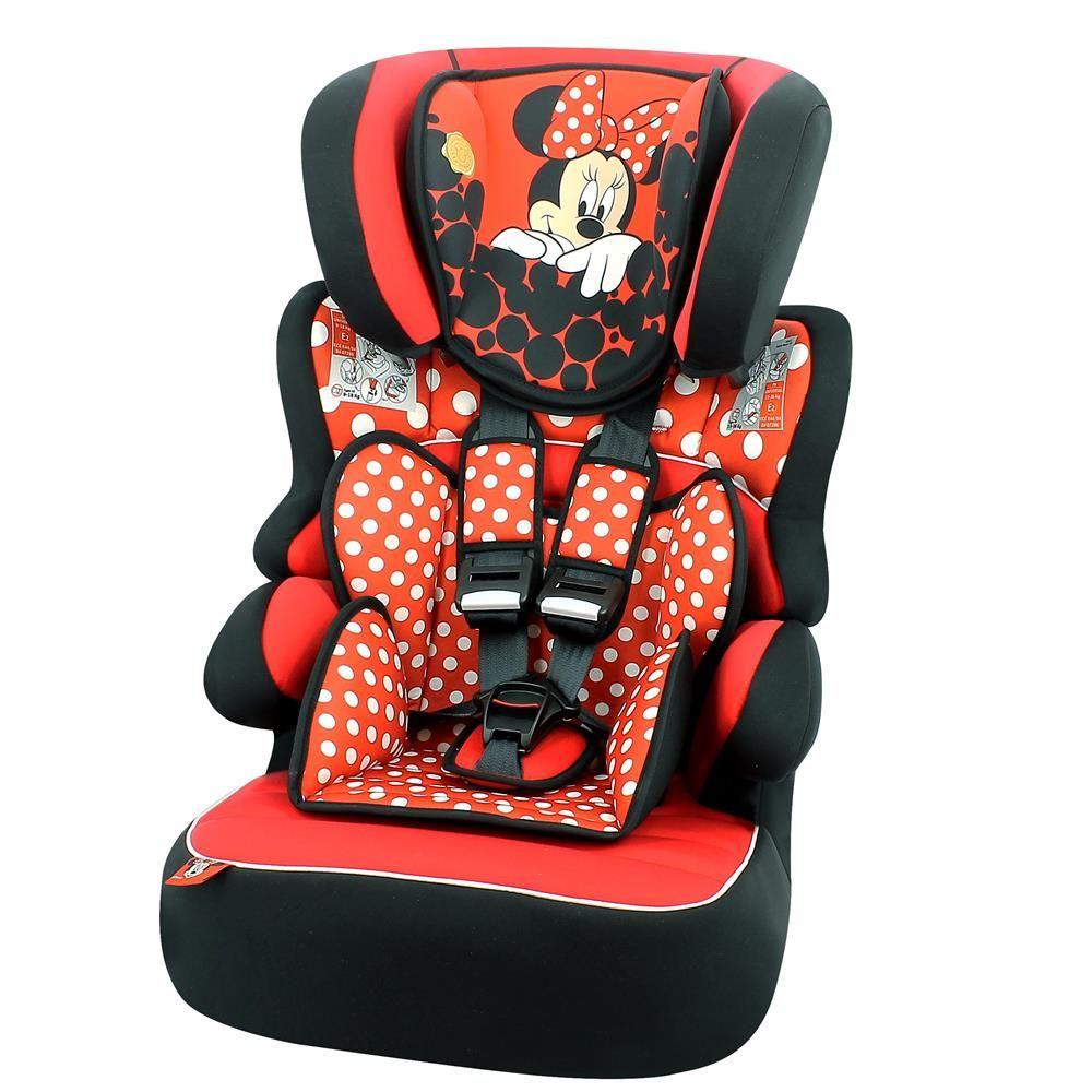 d39aa4f6deaa1 Cadeira Auto Disney Minnie Mouse Vermelha - Beline SP para Crianças de 9kg  até 36kg