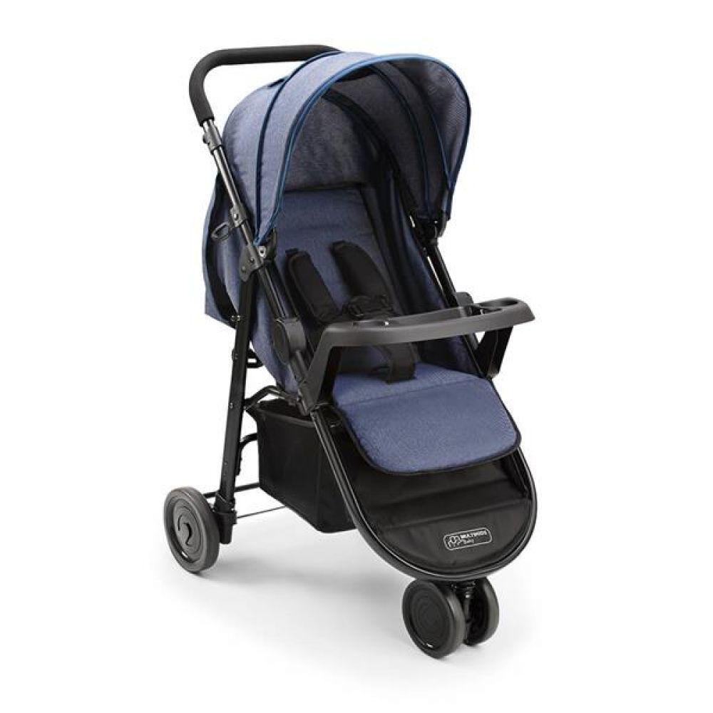 Carrinho De Bebe Agile 3 Rodas Jeans Multikids Baby**