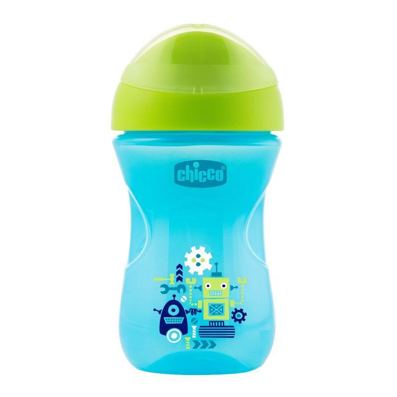 Copo Bebê Easy Cup 12m+ 266ml Azul e Verde Chicco