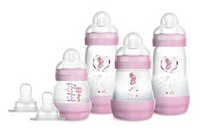 Kit 4 Mamadeiras MAM Easy Start Gift Set 0m+ Rosa