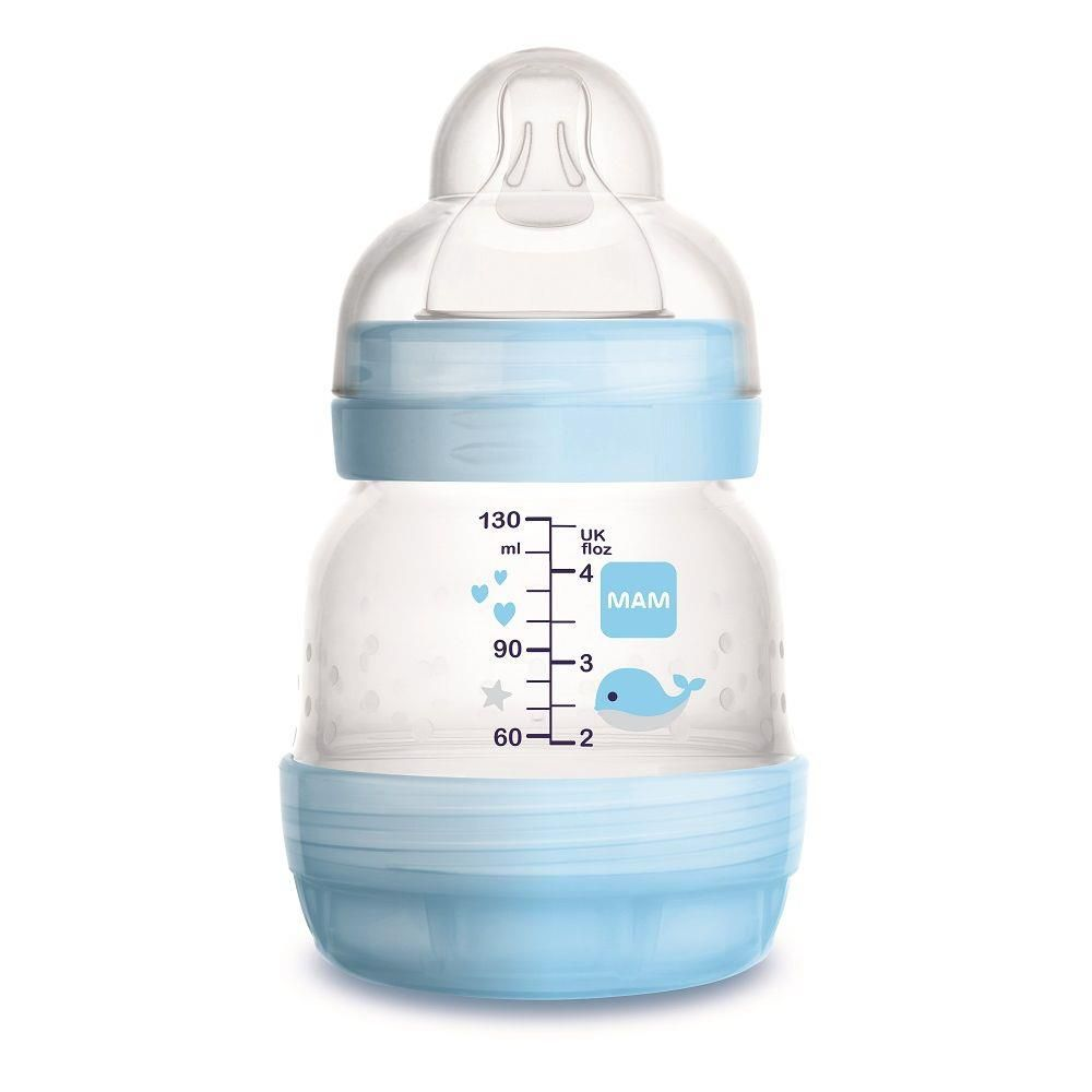 Mamadeira Easy Start Anticólica Azul 130ml 0 Meses