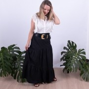 Blusa Regina  em Lese com Babado