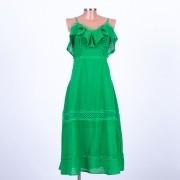 Vestido Luana Midi em Lese com Rendas Variadas