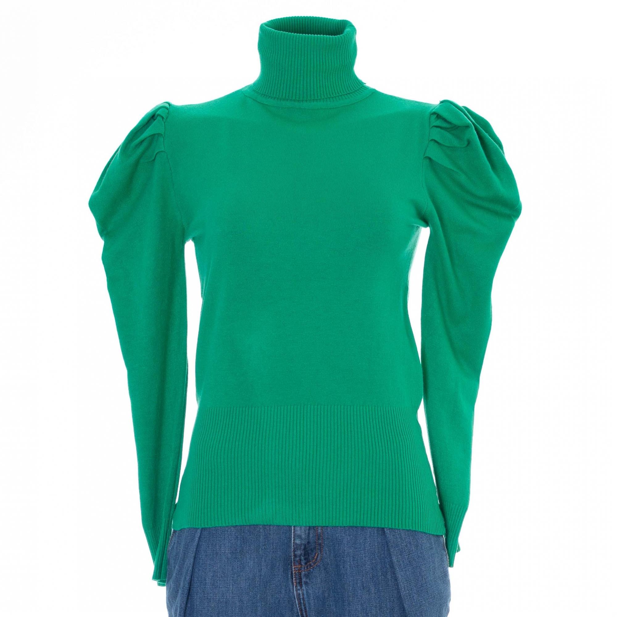 Blusa Gola Rolê Glamour em Tricot