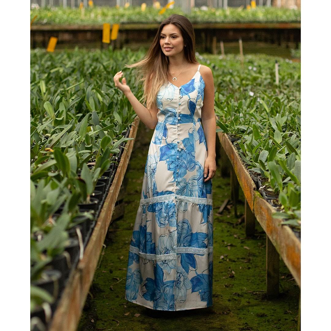 Vestido Deise Longo Floral