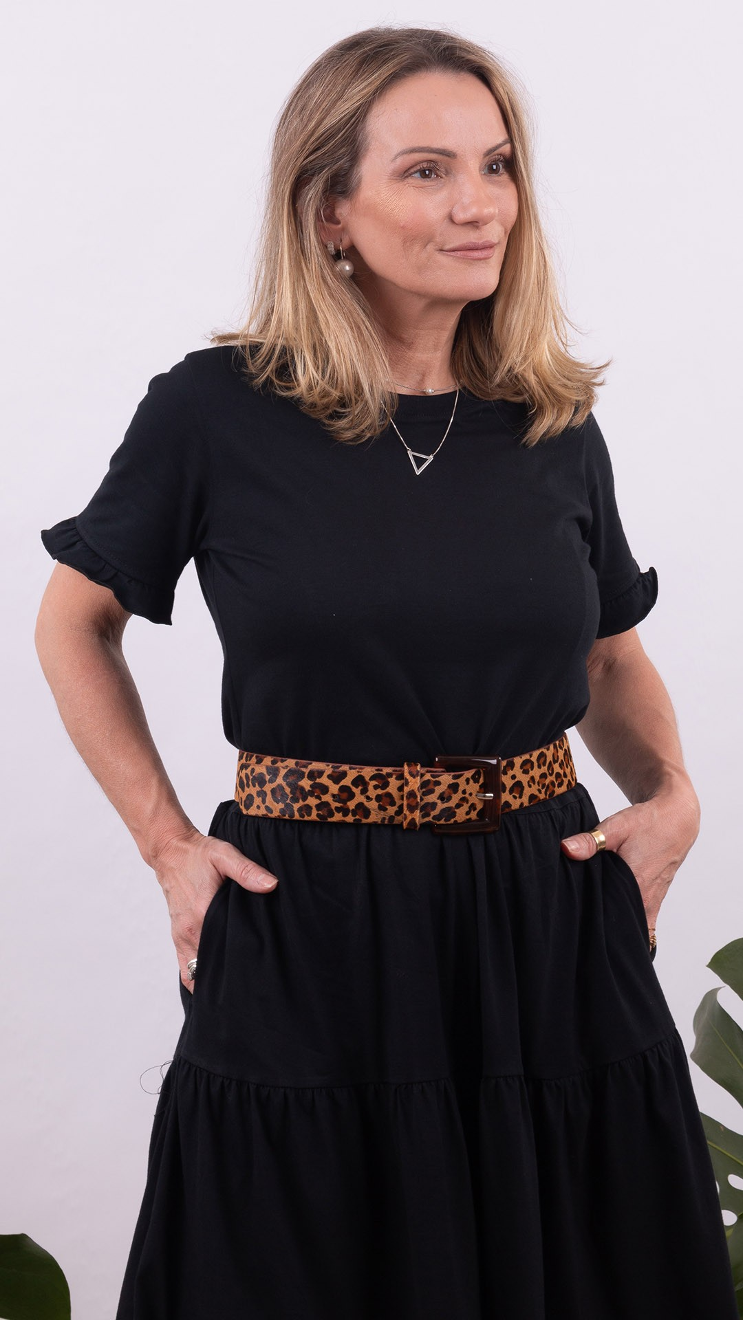 Vestido Shirt Bendita Color Block