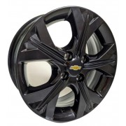 Kit 4 Roda Aro 15x6 Gm Onix 2020 4x100 Black Zk-850