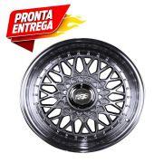 Kit 4 Rodas Aro 14x6 Esportiva BBS 4x100/108 Diam. Prata Zk-370