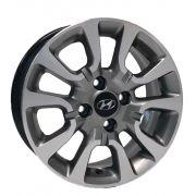 Kit 4 Rodas Aro 14x6 Hyundai HB20 4x100 GD Krmai S06