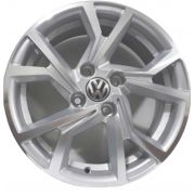 Kit 4 Rodas Aro 15x6 Vw Golf Gti Club 4x100 Prata Zk-710