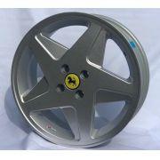 Kit 4 Rodas Aro 17x6 Ferrari F348 Volcano 4x100 Prata Et 42