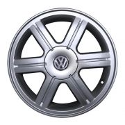 Kit 4 Rodas Aro 17x6 Vw Parata Turbo 4x100 Prata Zk-420