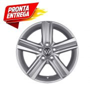 Kit 4 Rodas Aro 17x7 Vw Fox Highline 5x100 Prata  Krmai R65