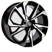 Kit 4 Rodas Aro 18x7 GT-7 Honda Civic SI 5X114 Et40 Preto Diamante