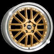 kit 4 Rodas Aro 18x7 Krmai BBS k50 5x100 Diam Gold