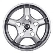kit 4 rodas aro 18x7 Volcano Stuttgart Porsche 4X100 hyper Prata