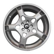 kit 4 rodas aro 18x7 Volcano Stuttgart Porsche 5X100 Prata
