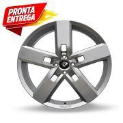 kit 4 rodas aro 18x7 Volcano V-130 Strong 4X100 Prata