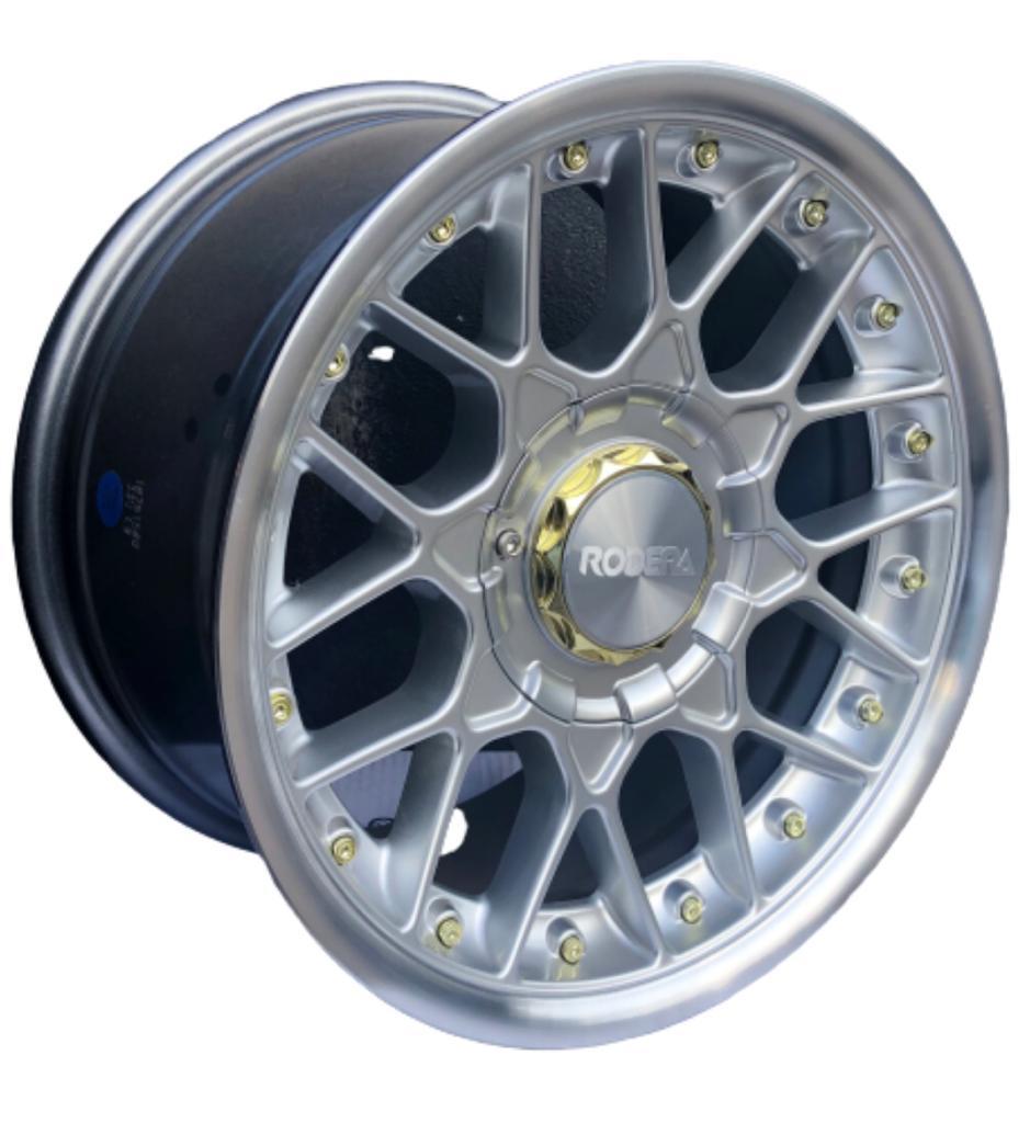 Jogo 4 Rodas Aro 15x7 Rodera RS2 FLAT 4X100/108 Silver Polished RDR15