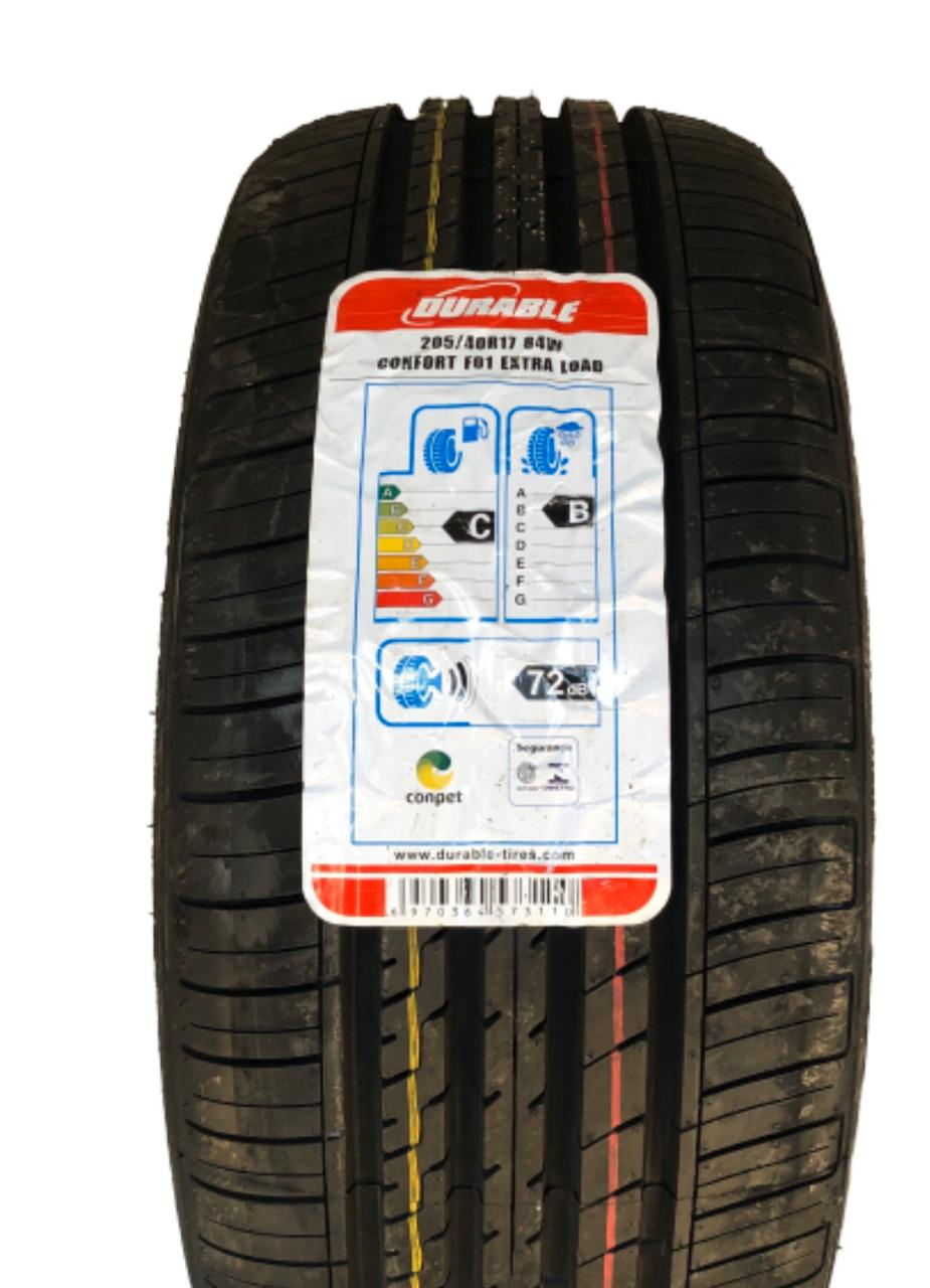 Kit 2 Pneus 205/40R17 84W Durable Confort F01