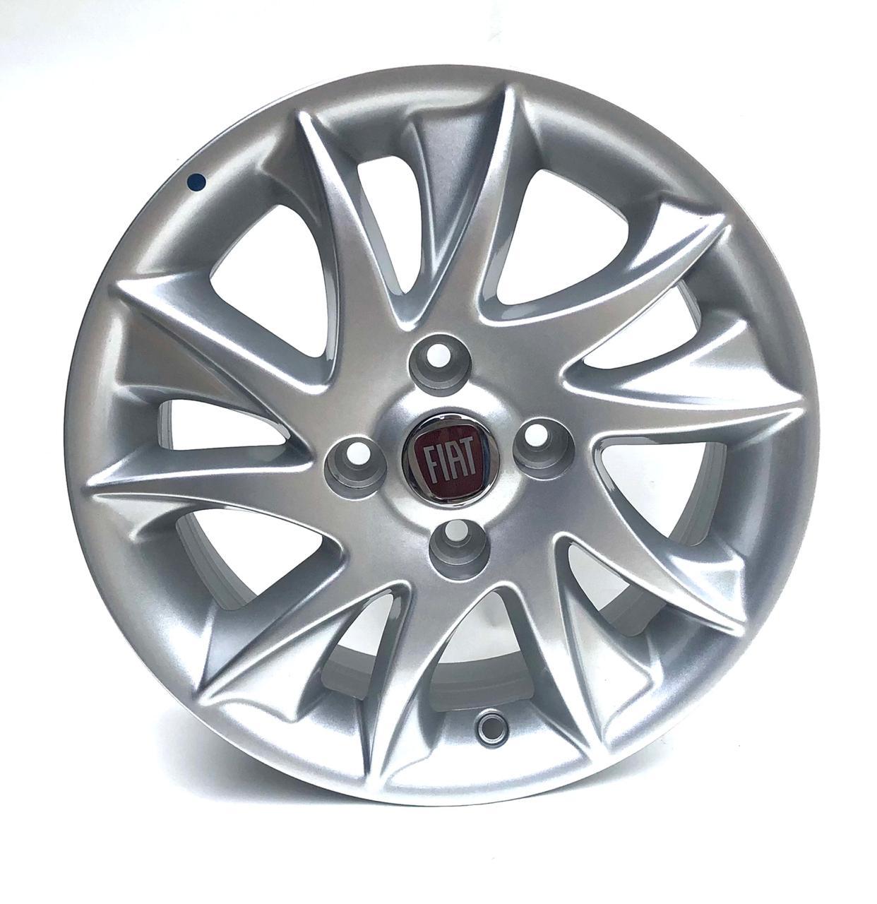 Kit 4 Rodas Aro 14x5,5 Fiat Novo Palio 4x98 Prata Original 100196601