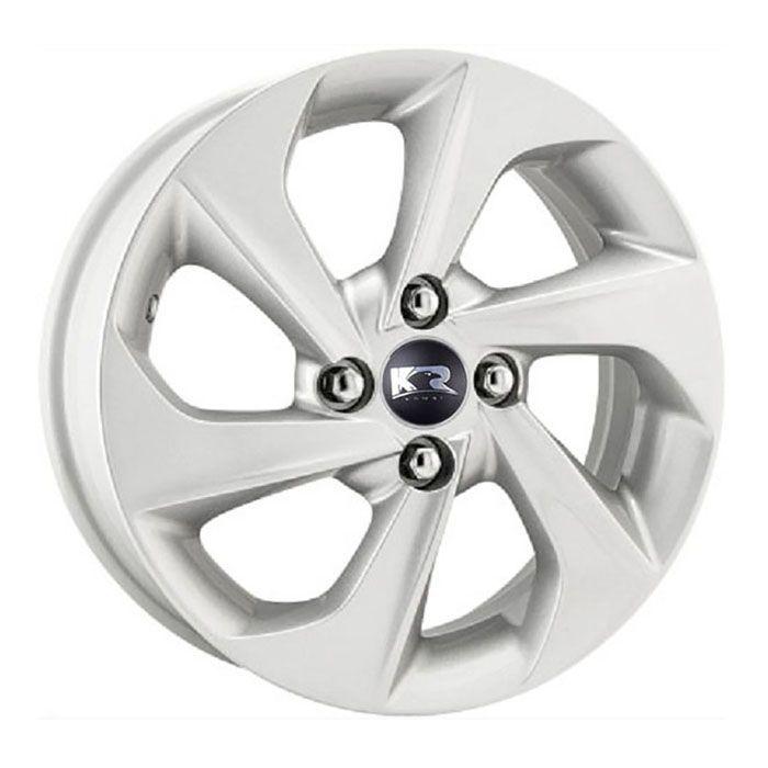 Kit 4 Rodas Aro 14x6 Hyundai HB20 16 4x100 Prata  Krmai R78