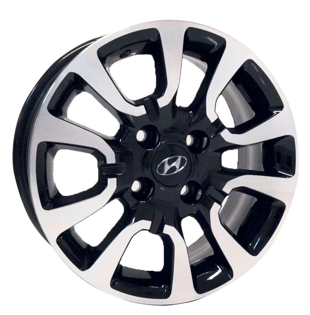 Kit 4 Rodas Aro 14x6 Hyundai HB20 4x100 BD Krmai S06