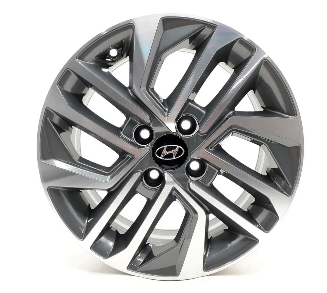 Kit 4 Rodas Aro 14x6 Hyundai HB20 4x100 GD Krmai S20