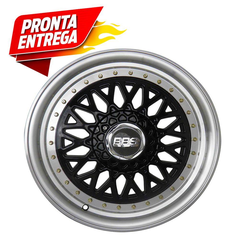 Kit 4 Rodas Aro 15x6 Esportiva BBS 4x100/108 BD Zk-370