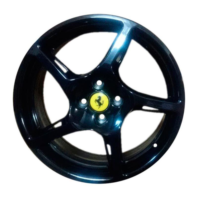 Kit 4 Rodas Aro 15x6 Ferrari 4x100 Black Zk-500