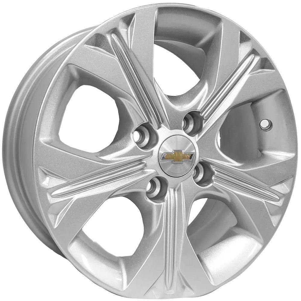 Kit 4 Rodas Aro 15x6 Gm Novo Onix Turbo 4x100 Prata Krmai S21