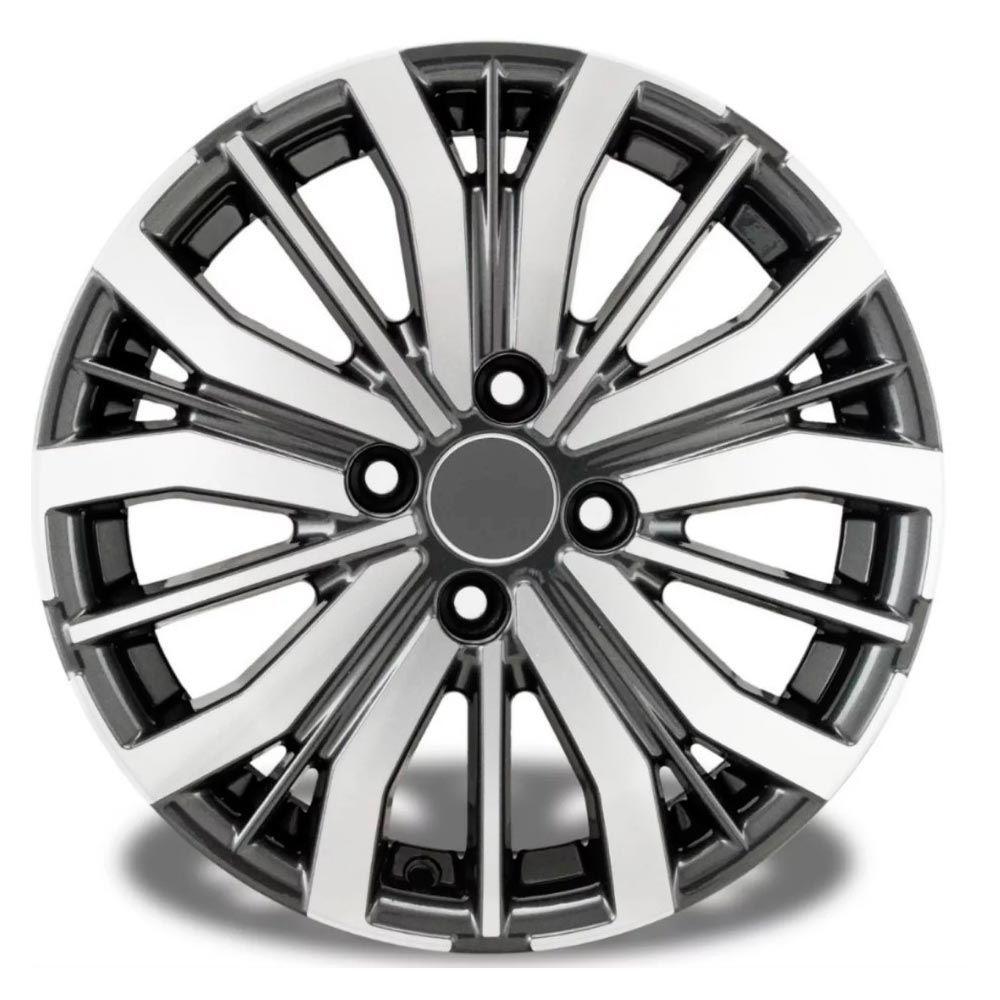 Kit 4 Rodas Aro 15x6 Honda City 18 4x100 GD Krmai S04