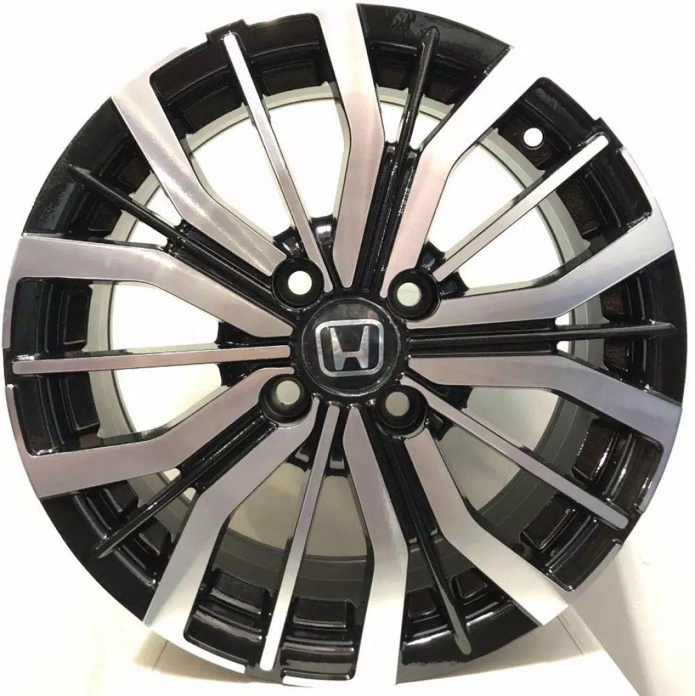 Kit 4 Rodas Aro 15x6 Honda City ELX 2019 4X100 BD BRW 1350