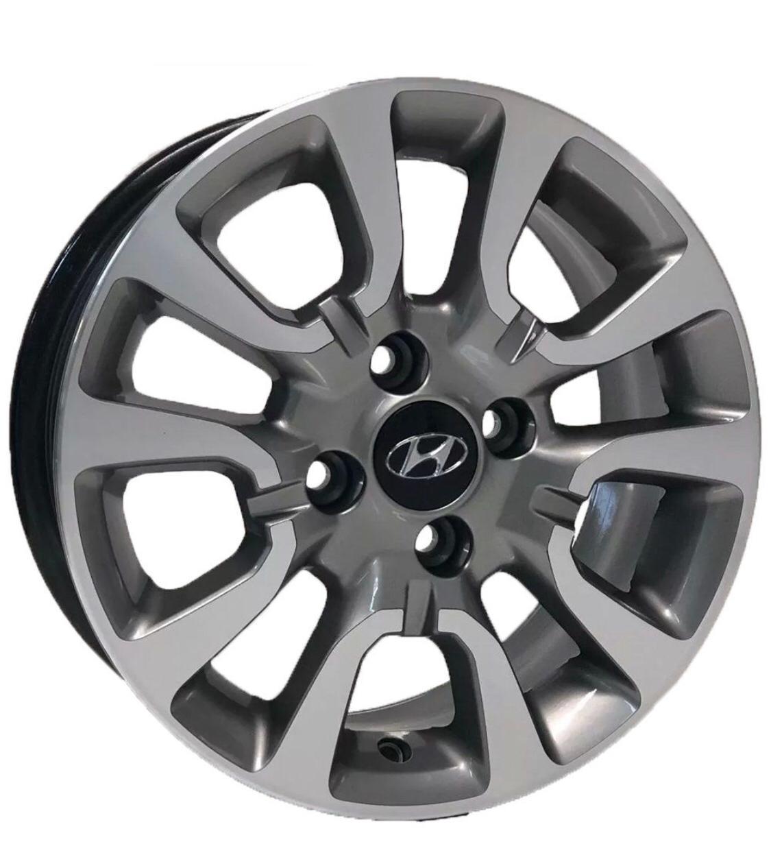 Kit 4 Rodas Aro 15x6 Hyundai HB20 4x100 GD Krmai S06
