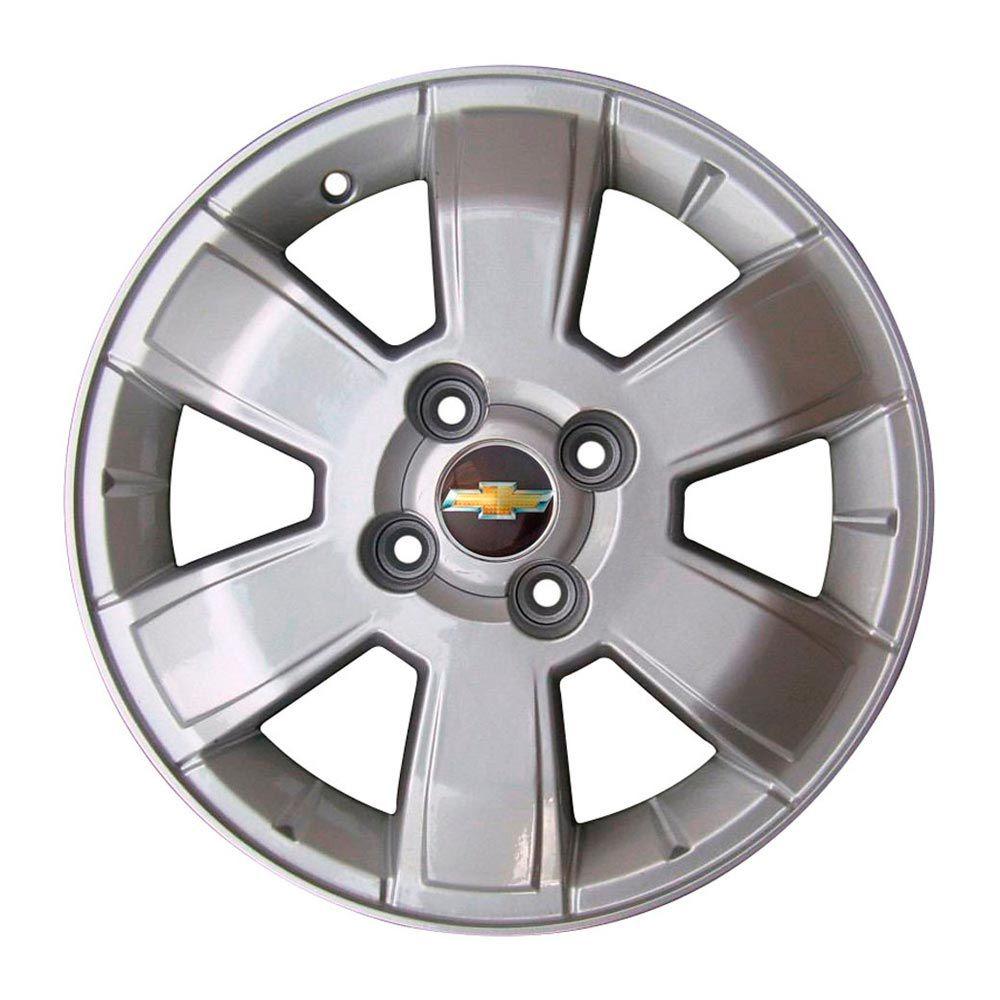 Kit 4 Rodas Aro 15X6 Montana Sport  4X100 Prata BRW 820