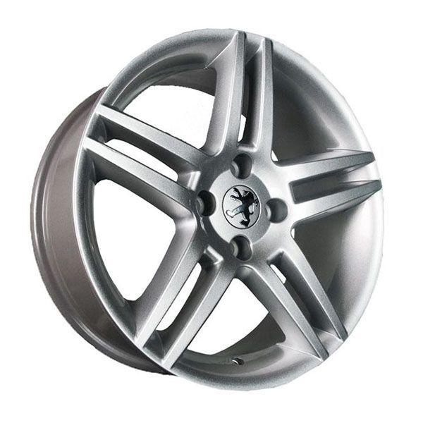 Kit 4 Rodas Aro 15x6 Peugeot 308 4x108 Prata Et25 Krmai R41