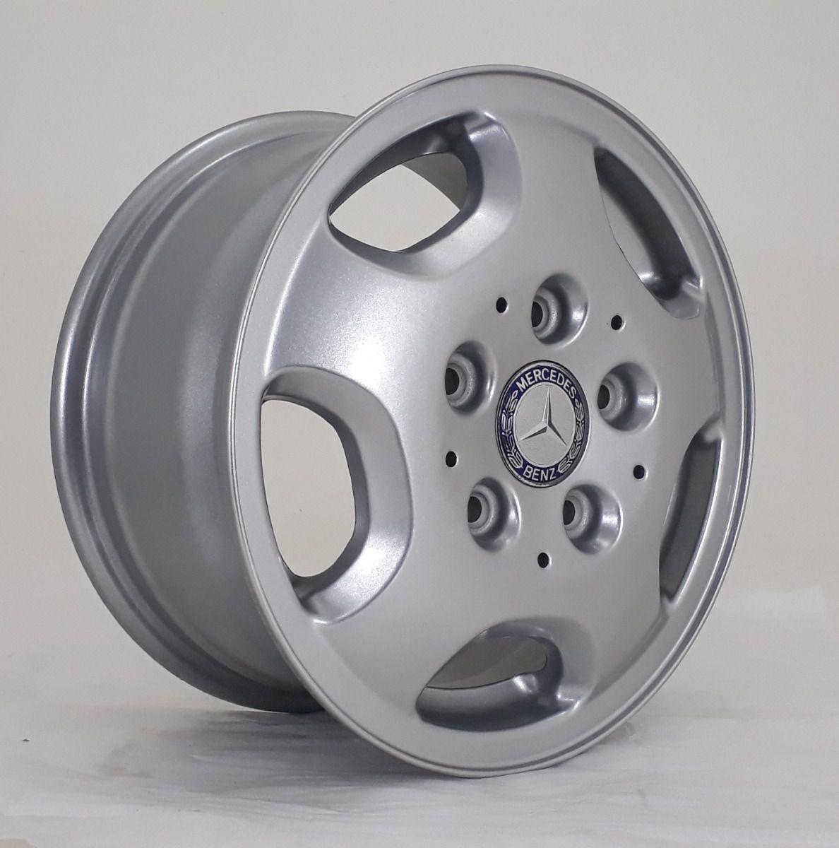 Kit 4 Rodas Aro 15x7 Mercedes Sprinter 5x130 Prata