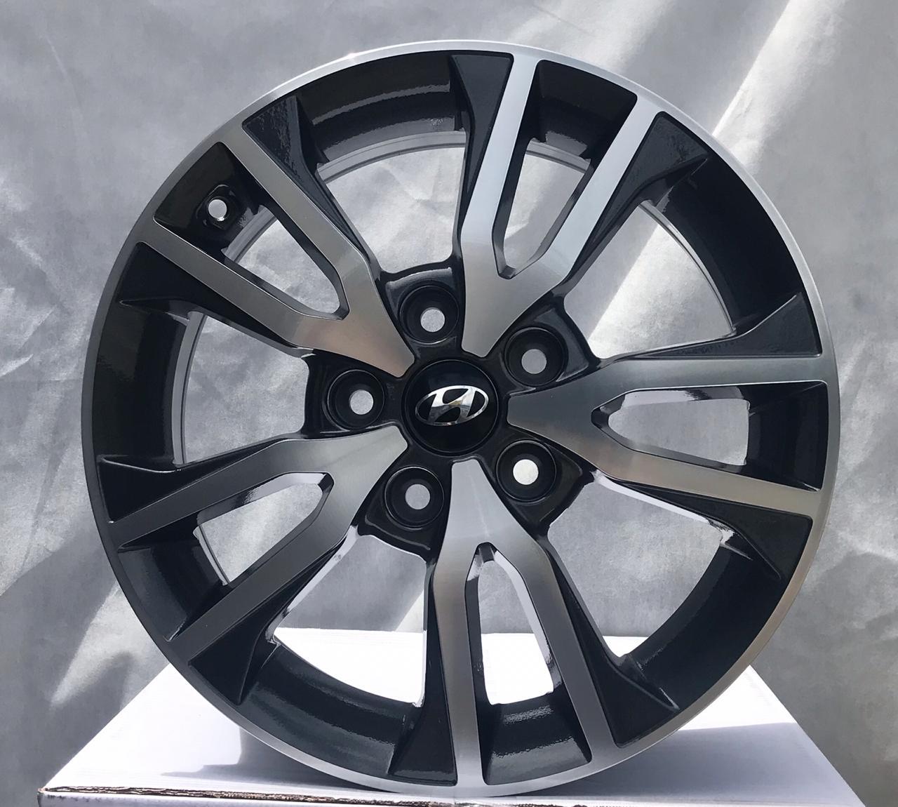 Kit 4 Rodas Aro 16X6 Creta Prestige  5X114,3 GD BRW 1360