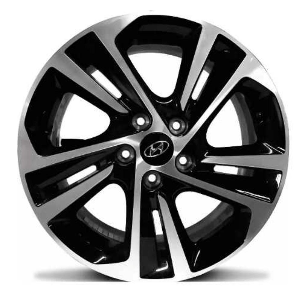 Kit 4 Rodas Aro 16x6 Hyundai Creta 2020 5x114,3 BD Et43 Krmai S16