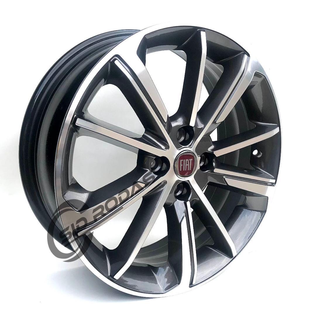 Kit 4 Rodas Aro 17x6 Fiat Cronos 4x98 Et38 GD Krmai S03