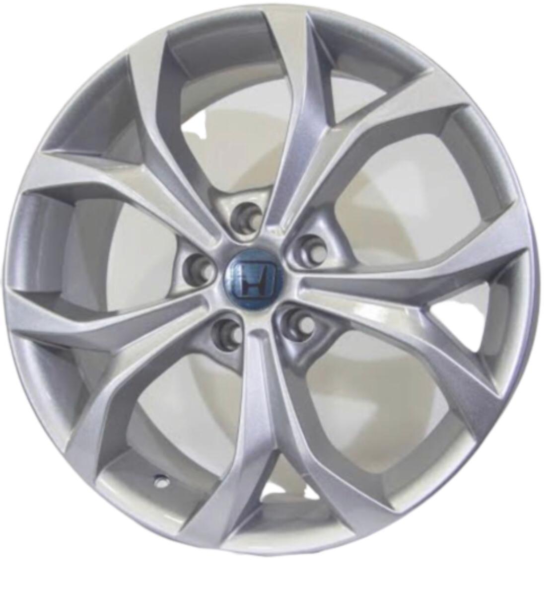 Kit 4 Rodas Aro 17x7 New Civic 5X114,3 Prata Zk-510
