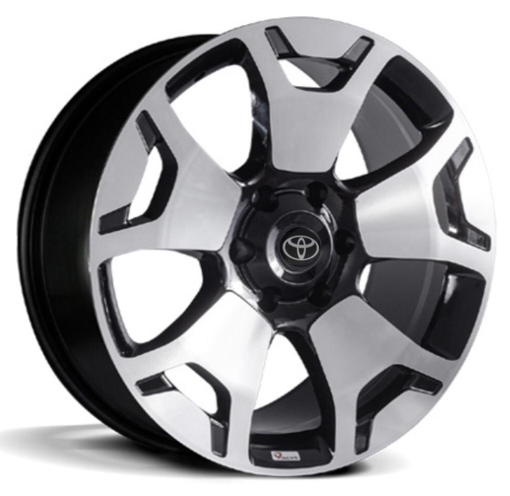 Kit 4 Rodas Aro 17x7 Platinum Hilux 2019 Volcano 6x139 Diam. Black Et 34